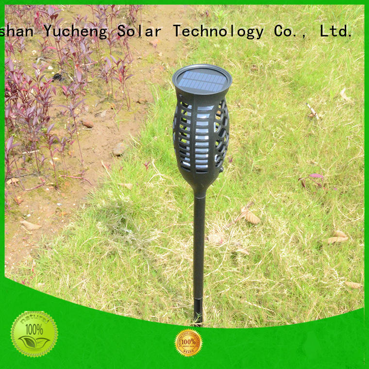 environmentally friendly solar flame torch directly sale for home