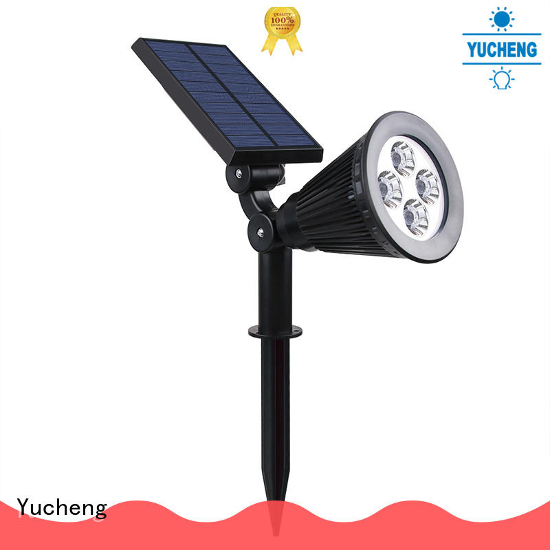 Yucheng intelligent control led solar spotlights outdoor factory direct supply for home