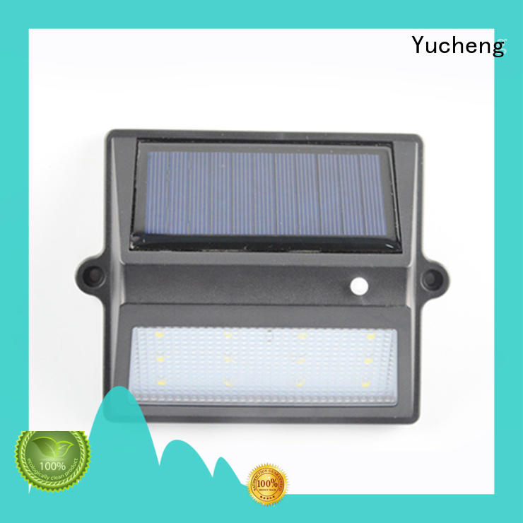 Yucheng solar garden fence lights factory price for home