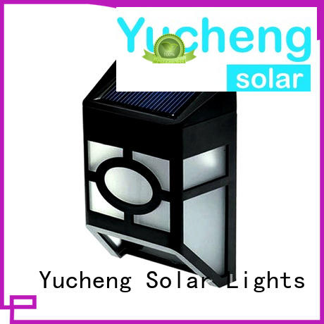 Yucheng small solar garden fence lights supplier for garden