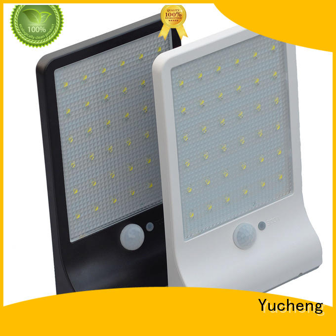 square sensor powered security outside solar wall lights with motion sensor Yucheng Brand