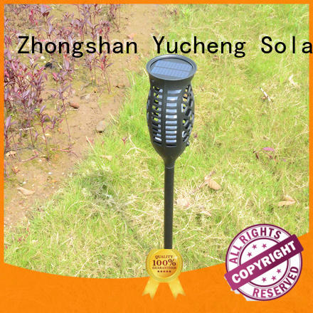 Yucheng cost-effective solar flame light customized for park