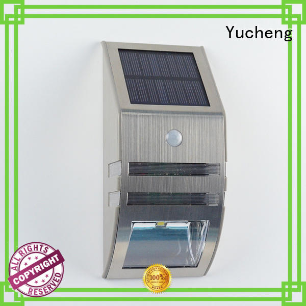 Wholesale wall outside solar wall lights with motion sensor Yucheng Brand