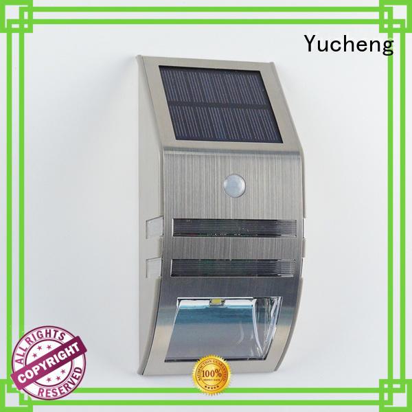 Yucheng Brand led square lamp outside solar wall lights with motion sensor