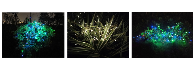 copper wire solar powered christmas lights wholesale for shop windows-2