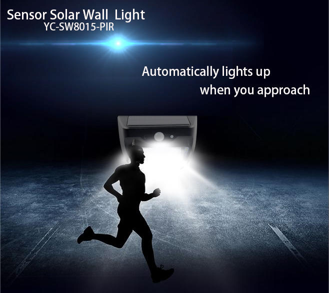 durable solar wall light with motion sensor wholesale for stair