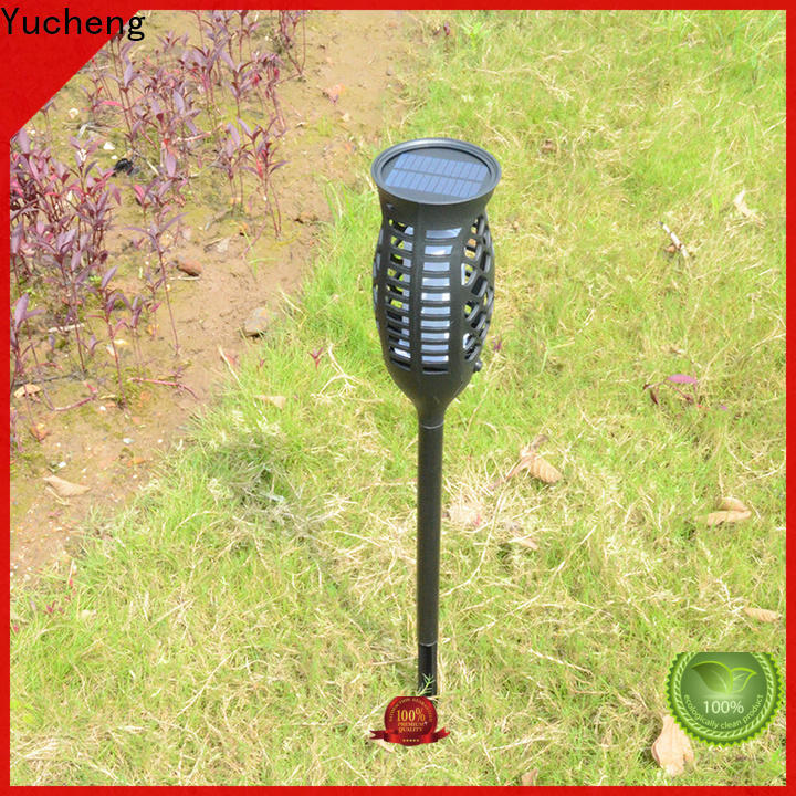 Yucheng solar powered flame lights customized for garden