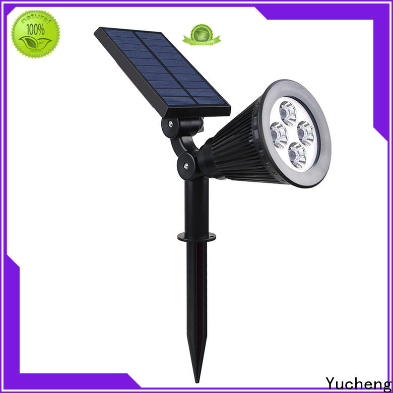 Yucheng solar powered spotlights with good price for home