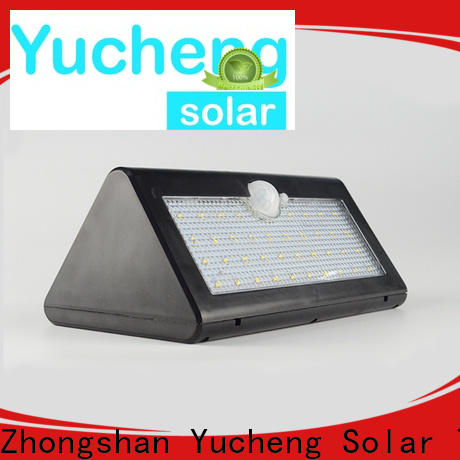 Yucheng solar garage lights supplier for pathway