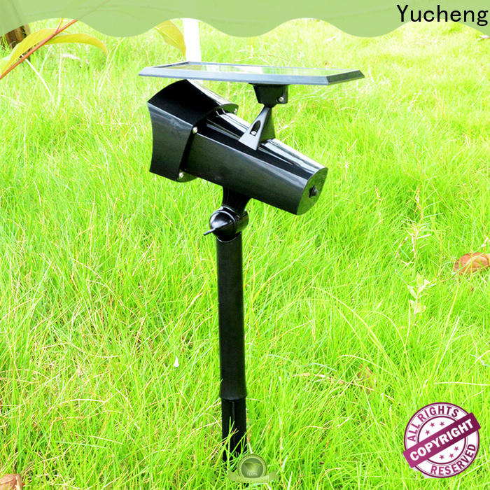 Yucheng solar powered spotlights factory direct supply for wall