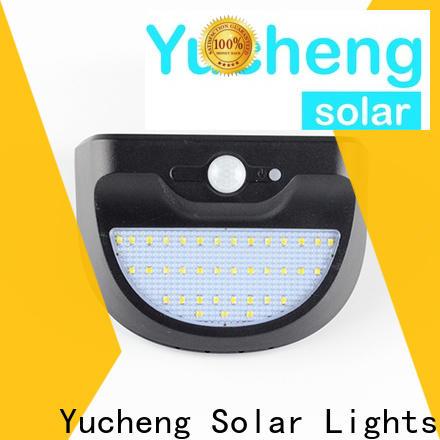 Yucheng new outdoor solar wall lights supplier for garden