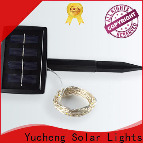 Yucheng solar lights string factory for trees