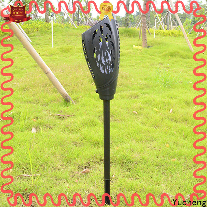Yucheng solar flame light factory direct supply for courtyards