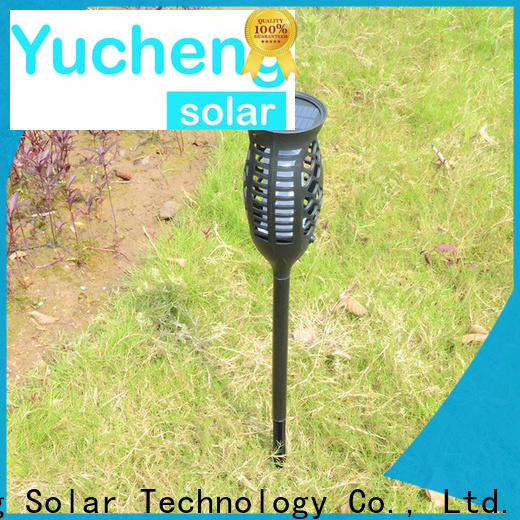 Yucheng solar powered flame lights series for home