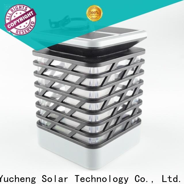 Yucheng wholesale solar powered flame lights directly sale for garden
