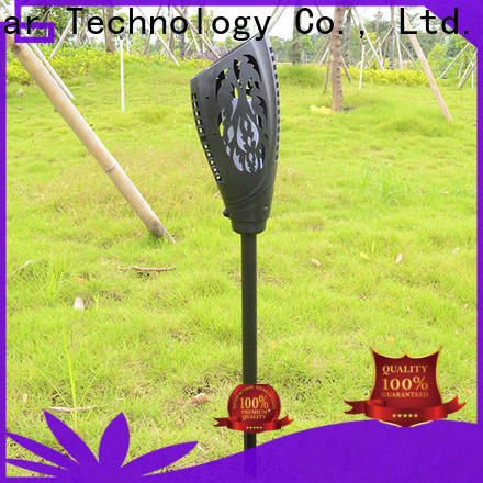 best solar powered flame lights customized for park