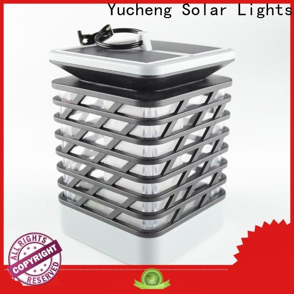 Yucheng solar garden lanterns factory direct supply for park