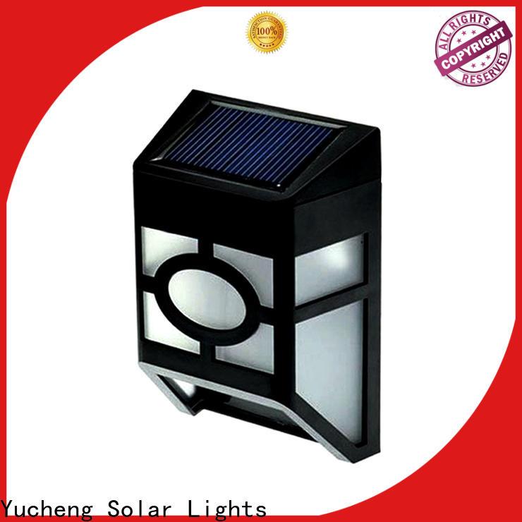Yucheng new solar fence lights manufacturer for garden