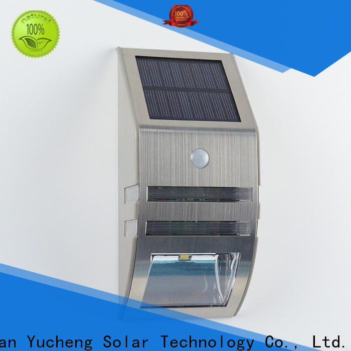 Yucheng solar motion sensor light factory direct supply for stair