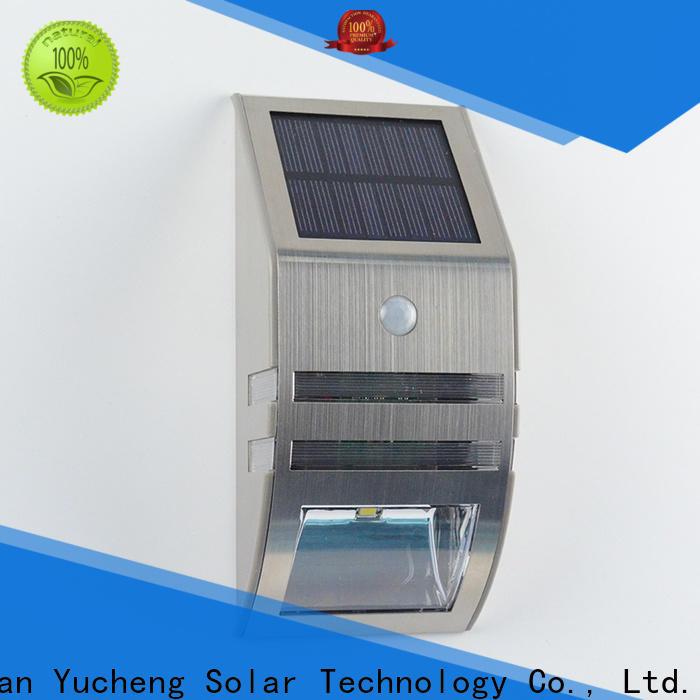Yucheng solar motion sensor light factory direct supply for stair