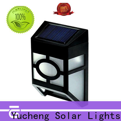 Yucheng new solar fence lights directly sale for outdoor