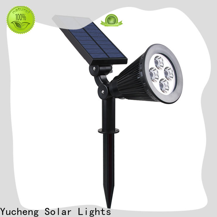 Yucheng best solar spotlights outdoor bright manufacturer for home