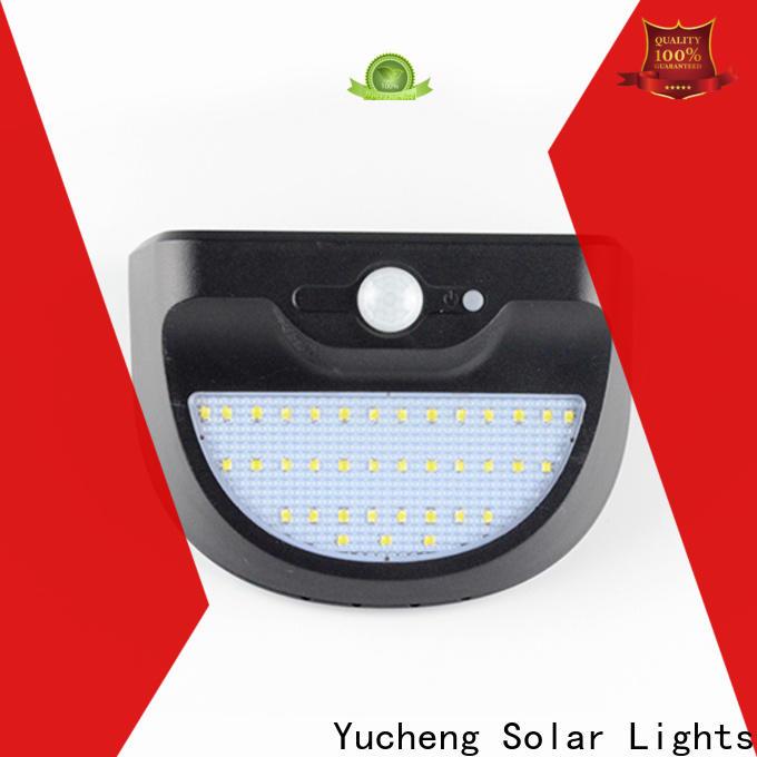 Yucheng wholesale solar led motion sensor light series for garden