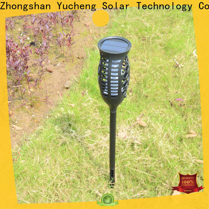 Yucheng solar powered flame lights directly sale for park
