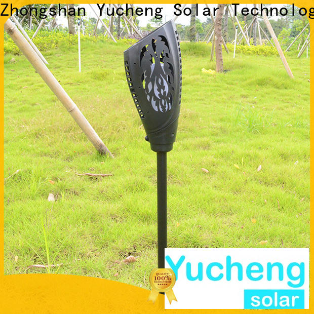 Yucheng solar powered flame lights with good price for park