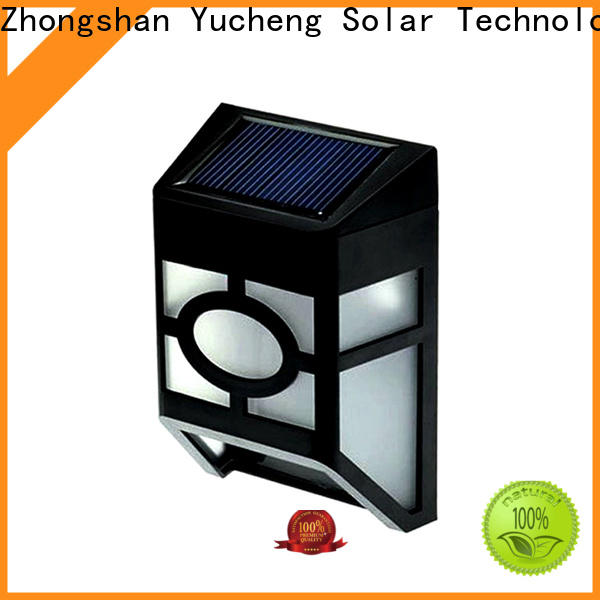 Yucheng latest solar fence lights factory price for home