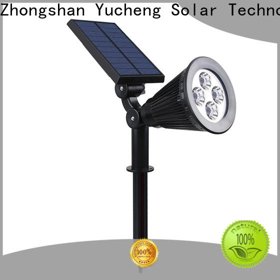 Yucheng latest led solar spotlights outdoor supplier for wall
