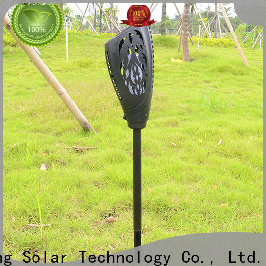 new solar powered flame lights series for garden