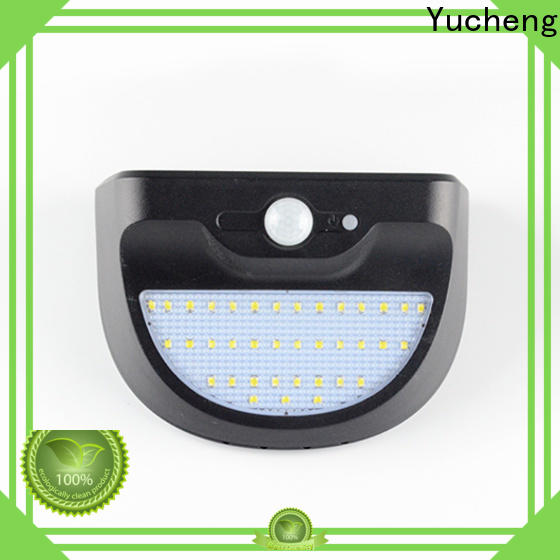 Yucheng solar outside wall lights customized for stair