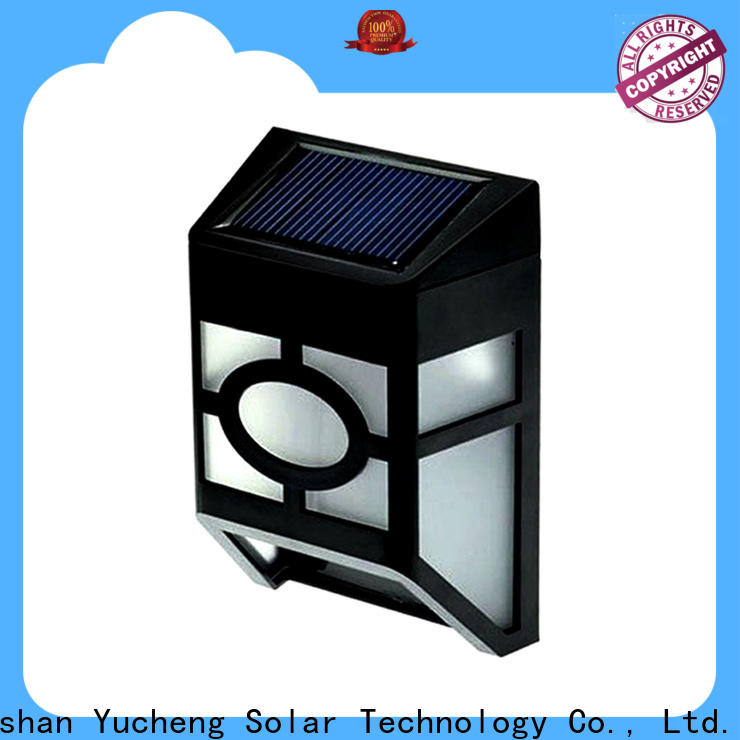 Yucheng new solar garden fence lights supplier for outdoor