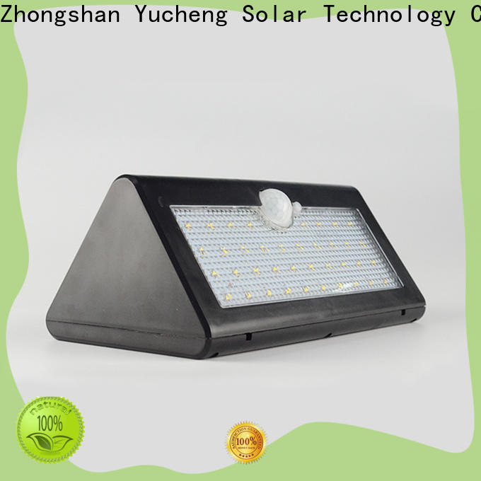 Yucheng solar outside wall lights with good price for docks