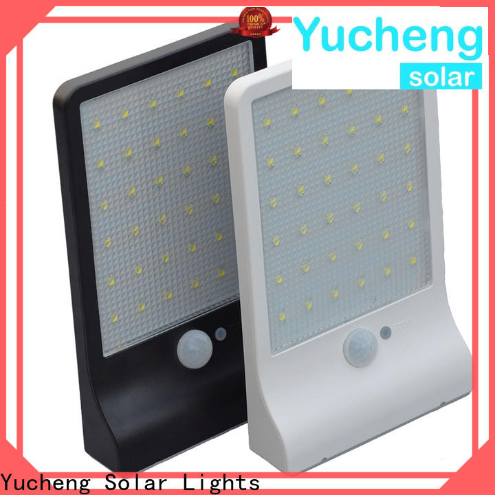 Yucheng new solar led motion sensor light supplier for garden