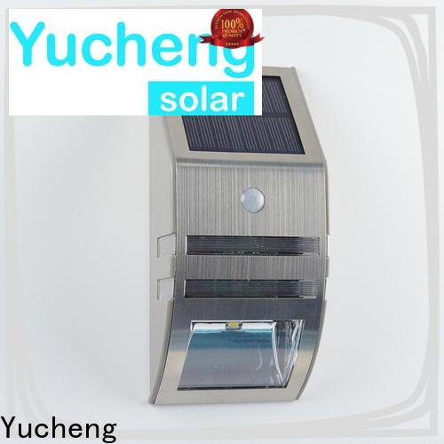 Yucheng solar sensor wall light with good price for garden
