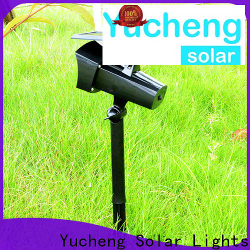 custom solar powered spotlights factory direct supply for home