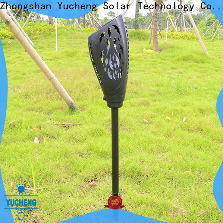 Yucheng top solar flame torch customized for courtyards