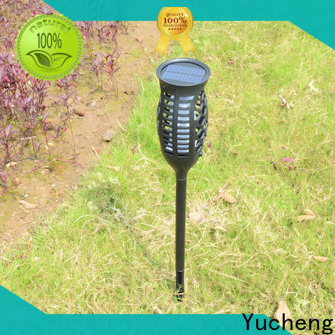 Yucheng solar powered flame lights with good price for courtyards