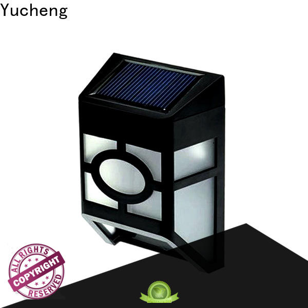 Yucheng new solar garden fence lights manufacturer for garden