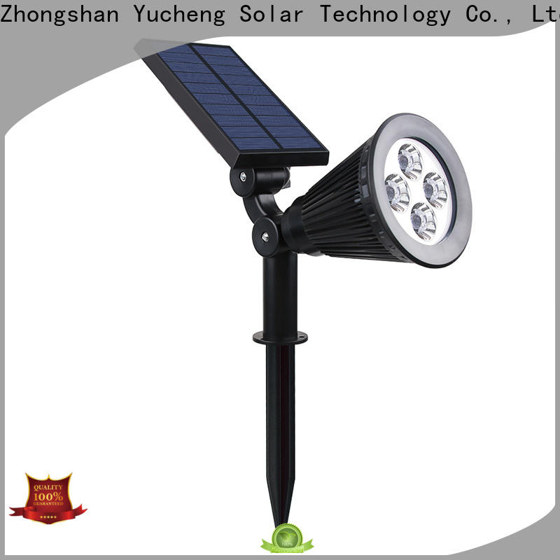 Yucheng solar spotlights outdoor bright with good price for garden