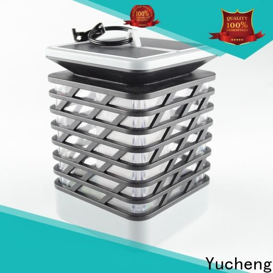 Yucheng wholesale solar powered flame lights customized for courtyards