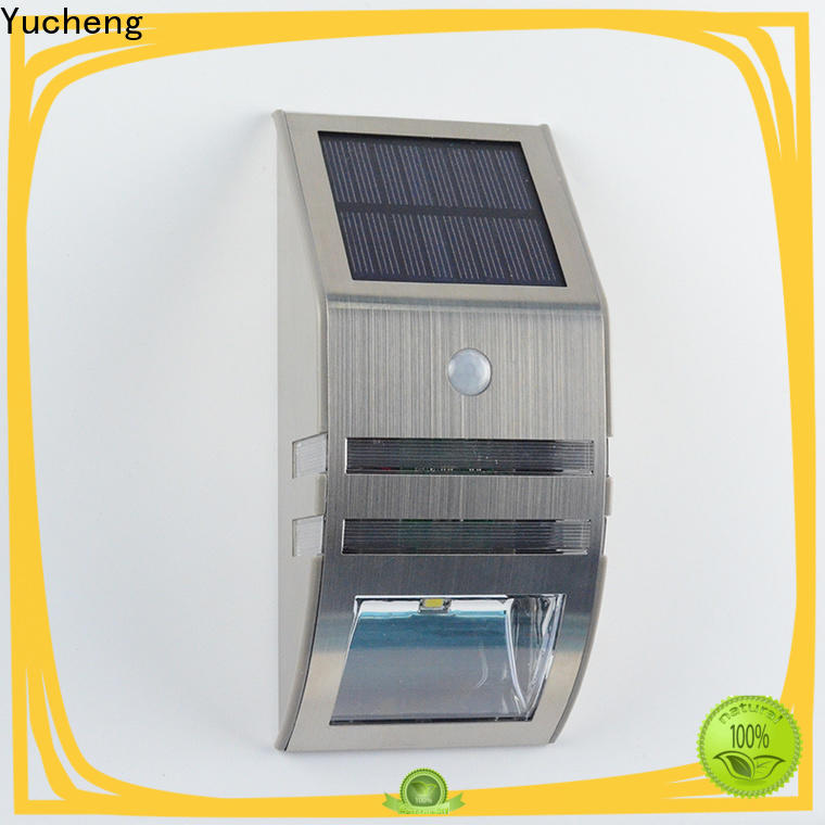 Yucheng best solar outdoor wall lights series for stair