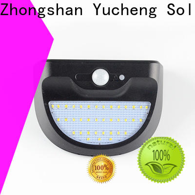 Yucheng best solar outdoor wall lights factory direct supply for docks