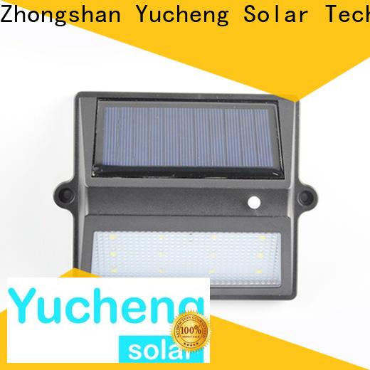 Yucheng solar garden fence lights directly sale for garden