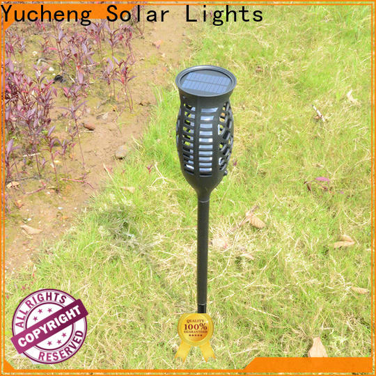 Yucheng solar powered flame lights supplier for home