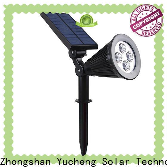 Yucheng solar spotlights factory direct supply for park