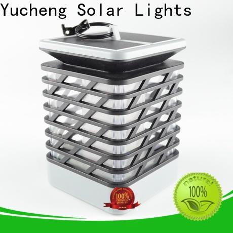 Yucheng solar flame light with good price for courtyards