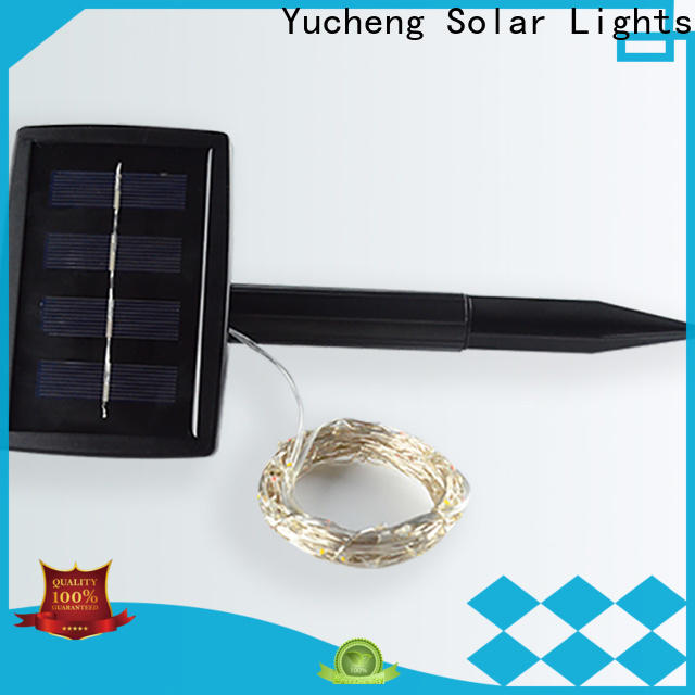 Yucheng solar powered christmas lights supplier for courtyards
